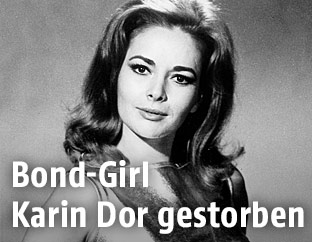Schauspielerin Karin Dor 1967 als Bond-Girl
