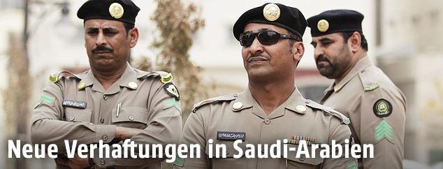 Saudische Polizisten