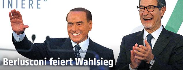 Silvio Berlusconi und Nello Musumeci