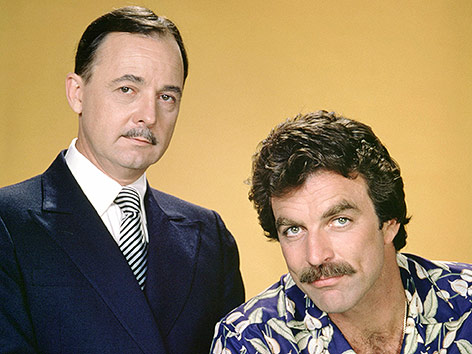 John Hillerman und Tom Selleck