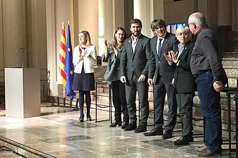 Katalanische Bürgermeister in Brüssel