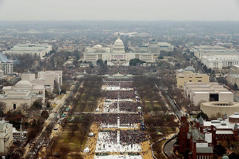 Publikum bei Donald Trumps Angelobung