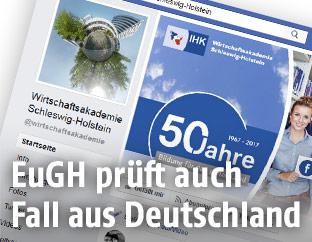 Screenshot der Facebook-Seite der Wirtschaftsakademie Schleswig-Holstein