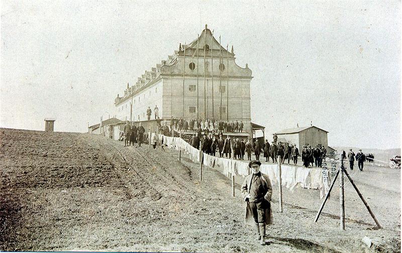 Lager Drosendorf mit Internierten, 1915