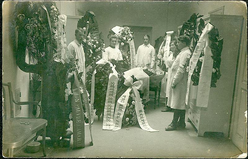 Lagerspital Drosendorf Aufbahrung eines Konfonierten, 1914-1918