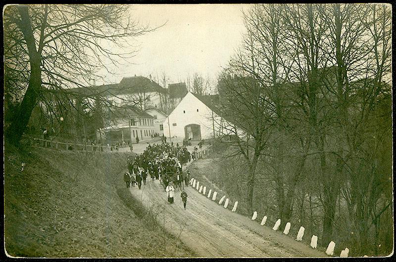 Drosendorf Begräbnis eines Internierten, 1914-1918