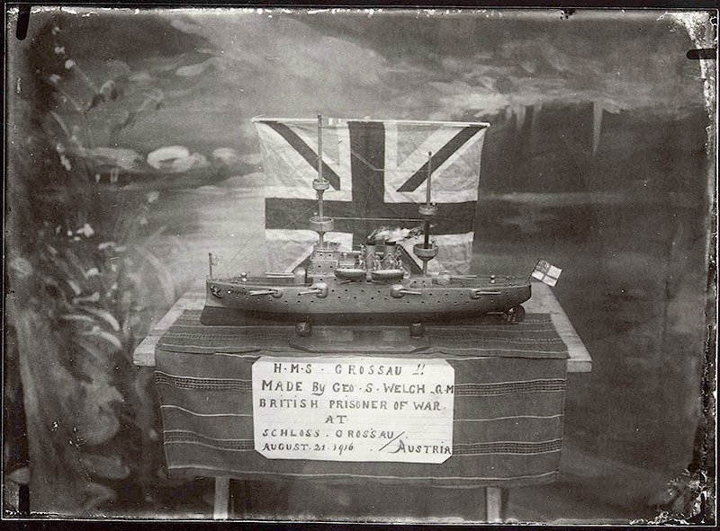 Modellschiff des Matrosen Chris Welch Grossau, 1916