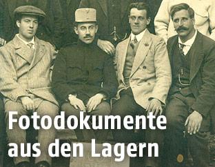Konfinierte Schotten in Drosendorf/Garten Familie Schrimpf, 1914-1918