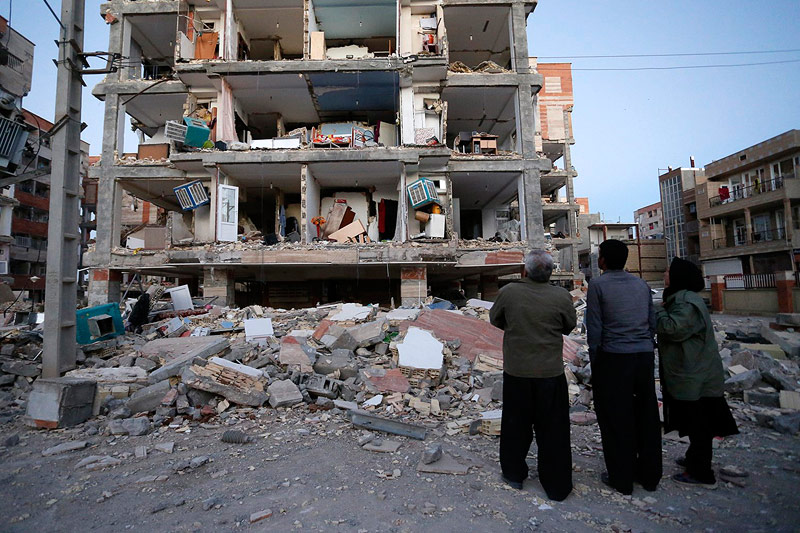 Zerstörung nach Erdbeben