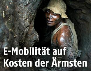 Arbeiter in Einer Kobalt-Mine