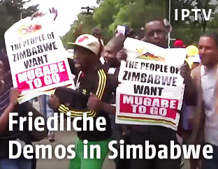 Demonstranten in Simbabwe
