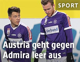 Dominik Prokop und Kevin Friesenbichler (alle Austria Wien)