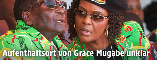 Robert Mugabe und seine Frau Grace