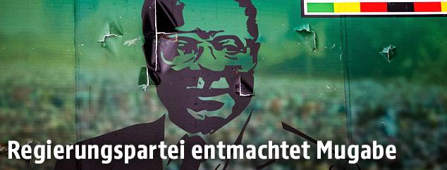 Plakat von Robert Mugabe