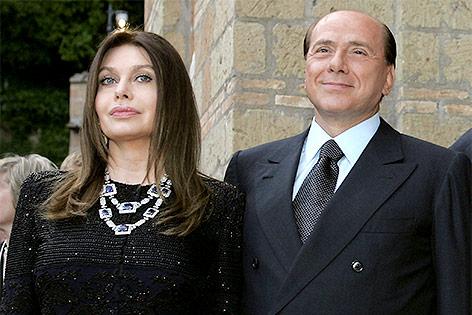 Silvio Berlusconi und Veronica Lario