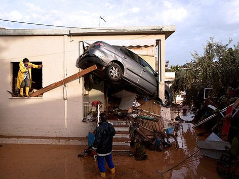 Flutschäden in Griechenland