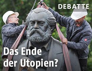 Marx-Statue wird abmontiert