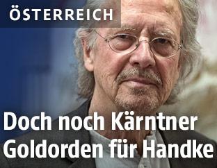 Der österreichische Autor Peter Handke