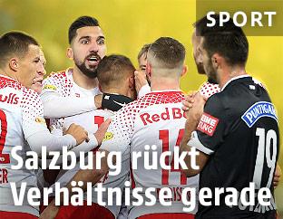 Salzburg Spieler jubeln