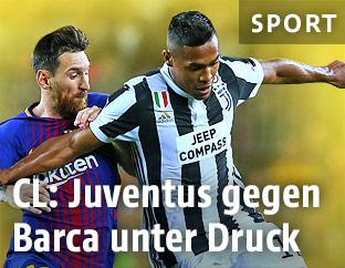 Lionel Messi (Barca) gegen Alex Sandro (Juve)