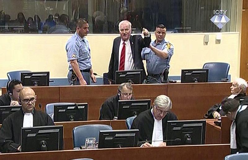 Mladic im Gerichtssaal