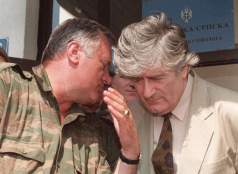 Radovan Karadzic und Ratko Mladic