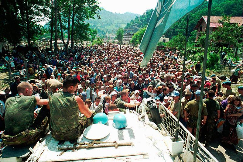 Niederländische UN-Soldaten nahe Srebrenica 1995
