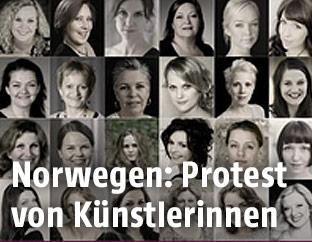 Protest von Künstlerinnen in Norwegen