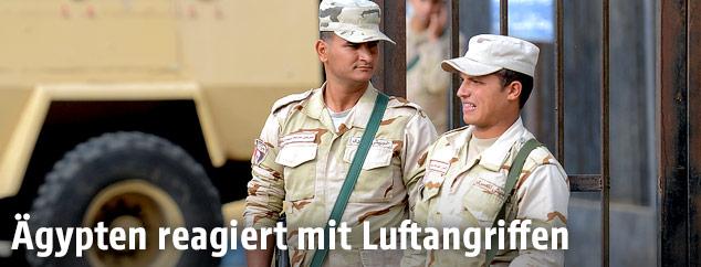 Ägyptische Soldaten