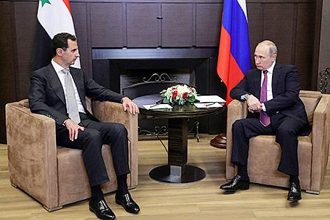 Russlands Präsident Wladimir Putinund und Syriens Präsident Baschar al-Assad