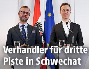 Norbert Hofer (FPÖ) und Gernot Blümel (ÖVP)