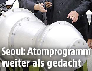Propagandafoto zeigt nuklearen Sprengkopf