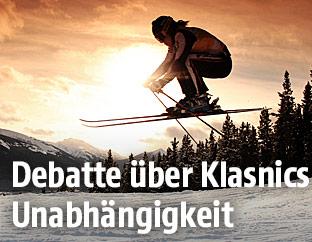 Sujetbild einer Skirennläuferin