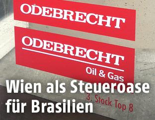 Odebrecht-Türschild in Wien