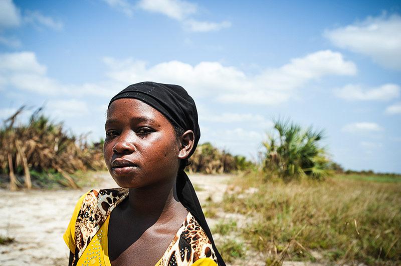 Junge malawische Frau