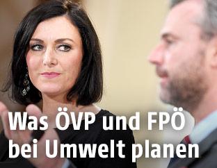 Elisabeth Köstinger (ÖVP) und Norbert Hofer (FPÖ)