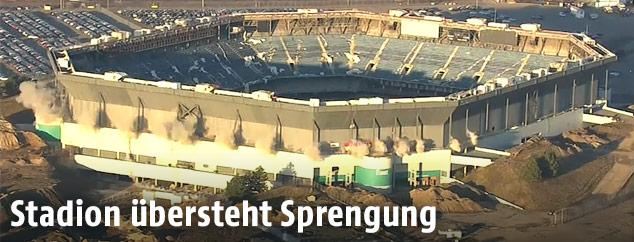 Luftaufnahme des alten Football-Stadions des US-Teams Detroit Lions