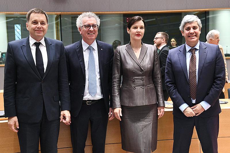 Peter Kazimir, Pierre Gramegna, Dana Reizniece-Ozola, Mario Centeno