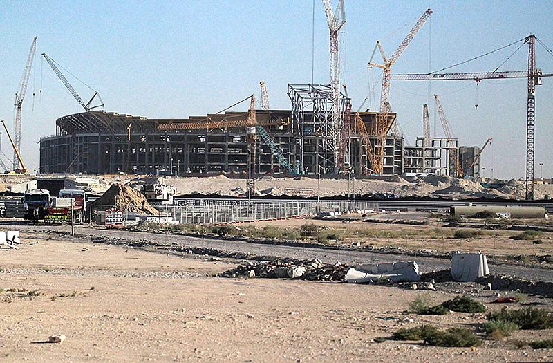 Baustelle eines Stadions