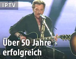 Der französische Rockmusiker Johnny Hallyday