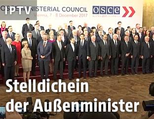 Gruppenfoto mit den Außenministern