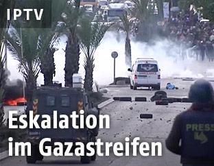 Zusammenstöße zrischen Palästinensern und israelischen Soldaten