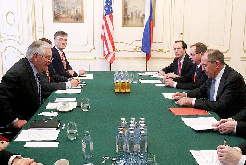 Rex Tillerson und  Sergey Lavrov