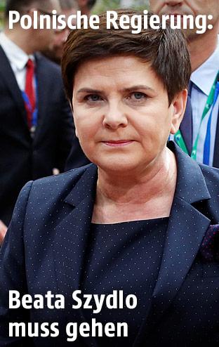 Polens Finanzminister Mateusz Morawiecki und die polnische Regierungschefin Beata Szydlo