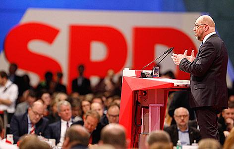 SPD-Chef Martin Schulz hält eine Rede am Bundesparteitag