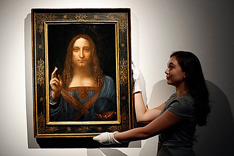"Ölgemälde ""Salvator mundi"" von Leonardo da Vinci"