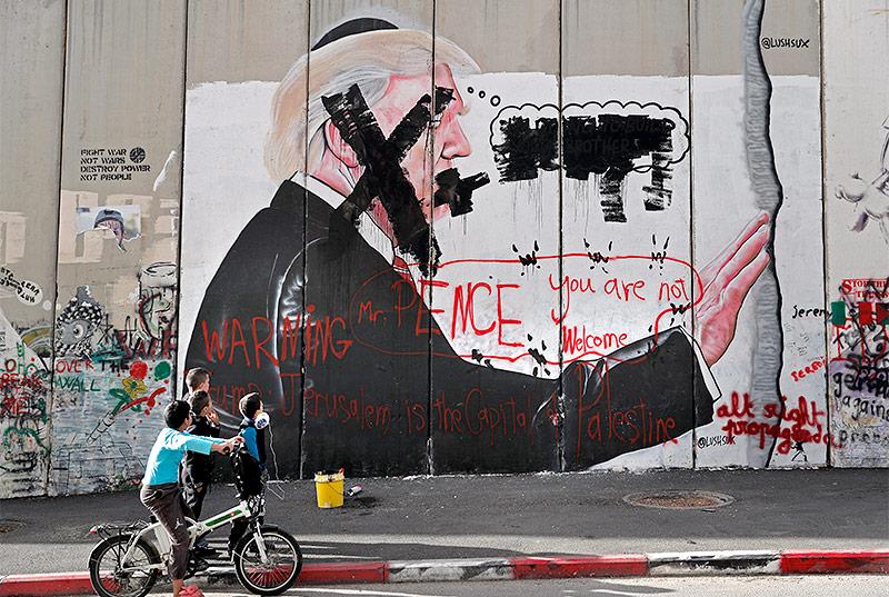 Trump-Graffiti in Betlehem