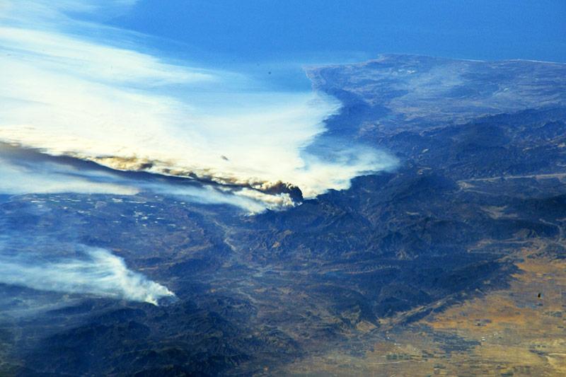 Luftaufnahmen der Brände