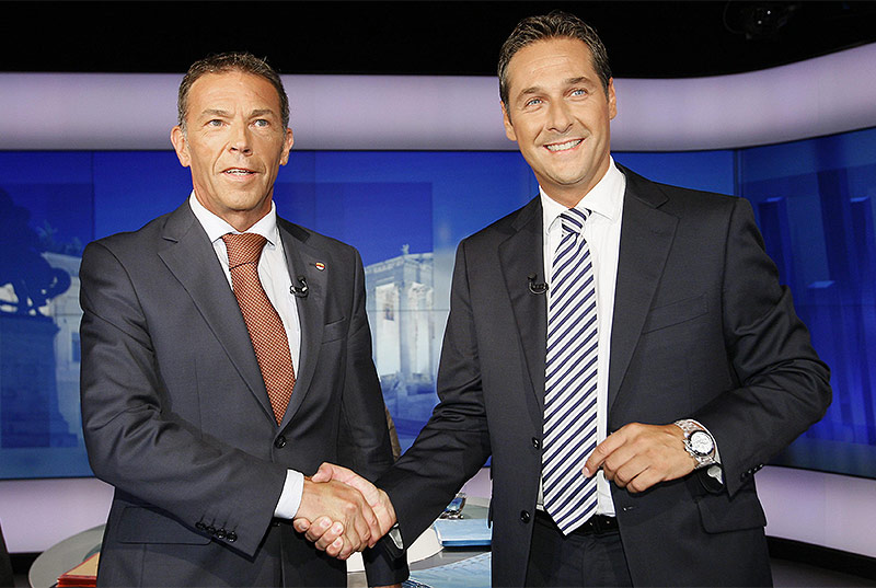 Jörg Haider und Heinz-Christian Strache 2008