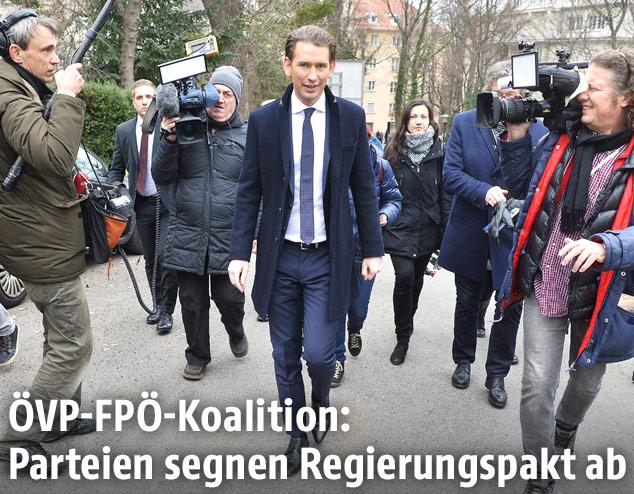 Der designierte Bundeskanzler Sebastian Kurz